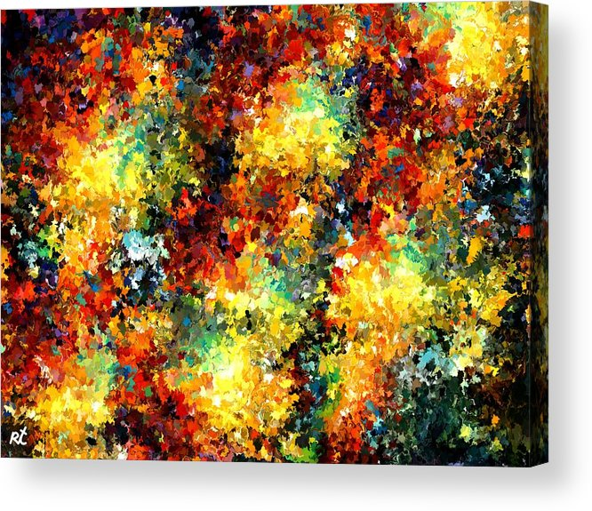Contemporary Acrylic Print featuring the painting Modern Composition 02 by Rafi Talby