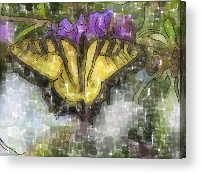 Butterfly Acrylic Print featuring the digital art Monarch by Ches Black
