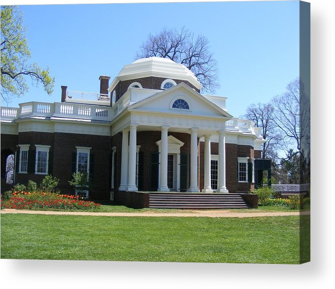 Thomas Jefferson Acrylic Print featuring the photograph Monticello by James and Vickie Rankin