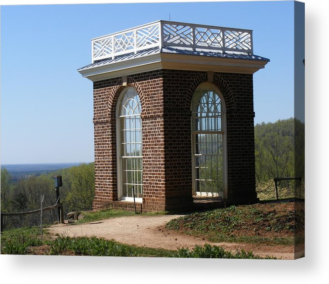 Monticello Acrylic Print featuring the photograph Monticello's Overlook by James and Vickie Rankin