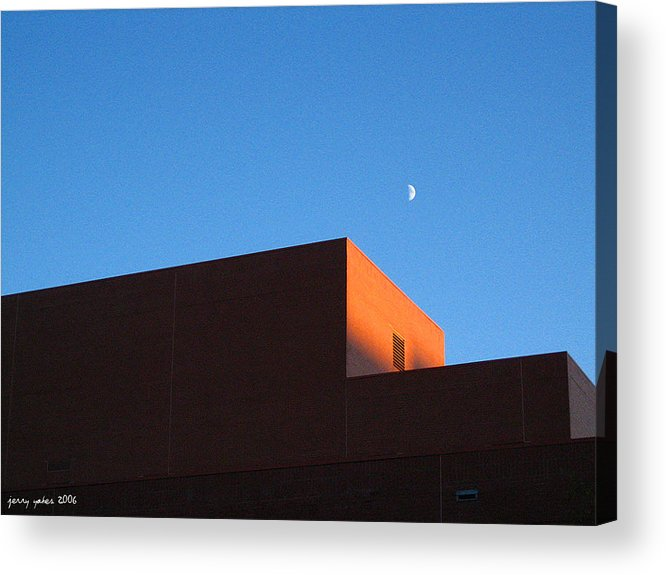 Buildiing Acrylic Print featuring the photograph Moon With Brick by Gerard Yates