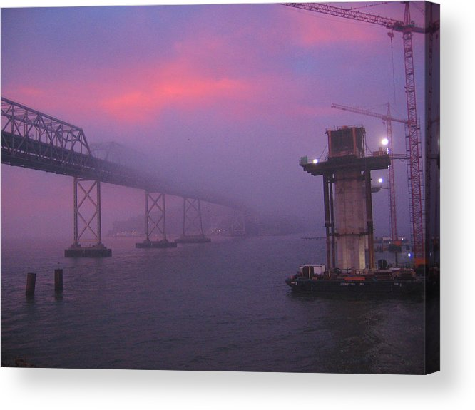 Water Acrylic Print featuring the photograph Morning Fog by Jerry Patchin