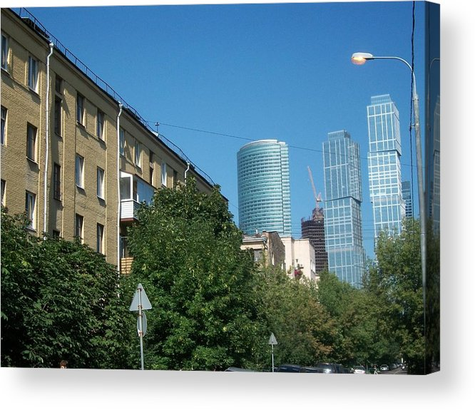 Moscow Business Centre Acrylic Print featuring the photograph Moscow Business Centre by James Hanemaayer