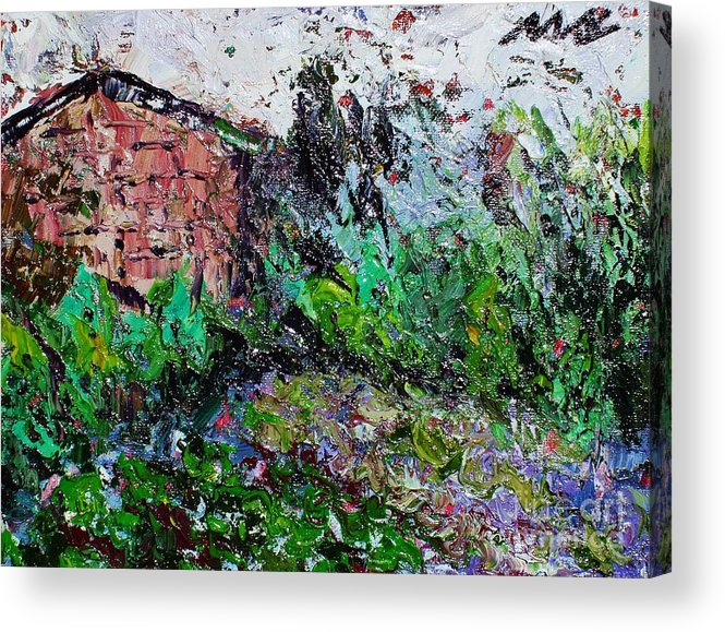 Garden Paintings Acrylic Print featuring the painting Mother by Seon-Jeong Kim