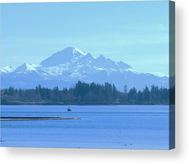 Acrylic Print featuring the photograph Mount Baker From The Spit by James Johnstone