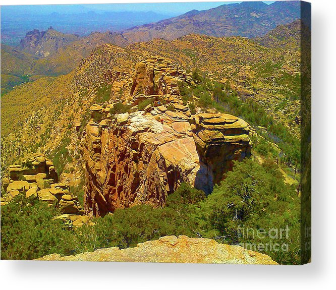 Mountain Acrylic Print featuring the photograph Mount Lemmon II by Marlon Chang