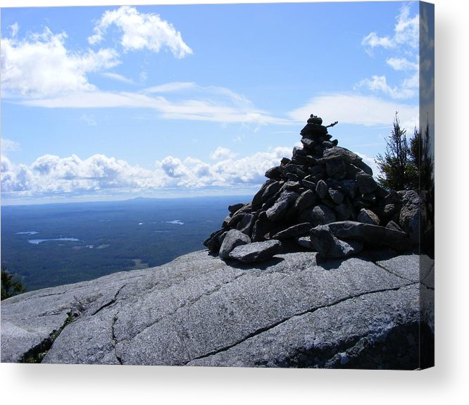 Mountain Acrylic Print featuring the photograph Mountain Cairn by Alison Heckard