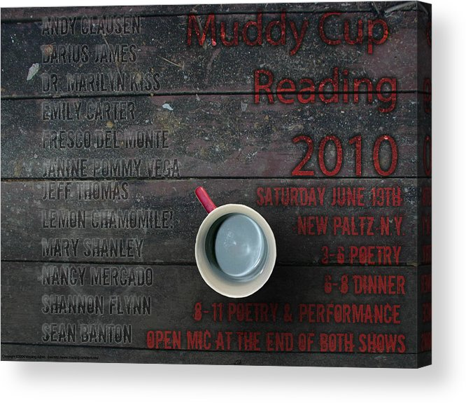 Muddy Cup Acrylic Print featuring the digital art Muddy Cup New Paltz by Christopher Glembotzky