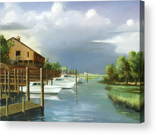 Murrells Inlet Acrylic Print featuring the painting Murrells Inlet South Carolina by Jim Horton