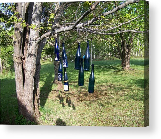 Blue Bottles Acrylic Print featuring the photograph My Bottle Tree - Photograph by Jackie Mueller-Jones