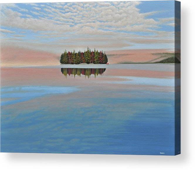 Mcmichael Gallery Final Paintings Acrylic Print featuring the painting Mystic Island by Kenneth M Kirsch