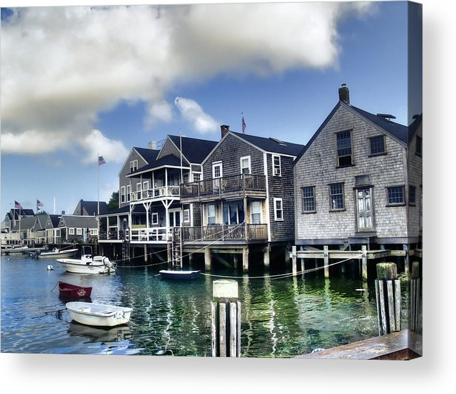 Nantucket Acrylic Print featuring the photograph Nantucket Harbor In Summer by Tammy Wetzel