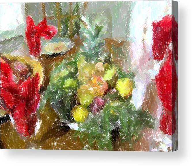 Holiday Acrylic Print featuring the photograph Napkin Dance by Michael Morrison