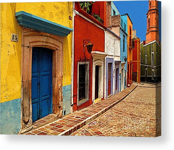 Darian Day Acrylic Print featuring the photograph Neighbors Of The Yellow House by Mexicolors Art Photography