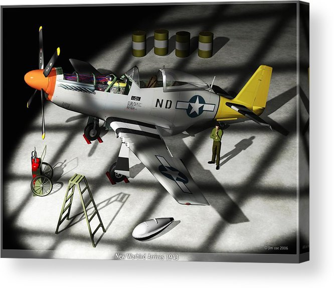 Jim Coe Acrylic Print featuring the digital art New Bird Arrives by Jim Coe
