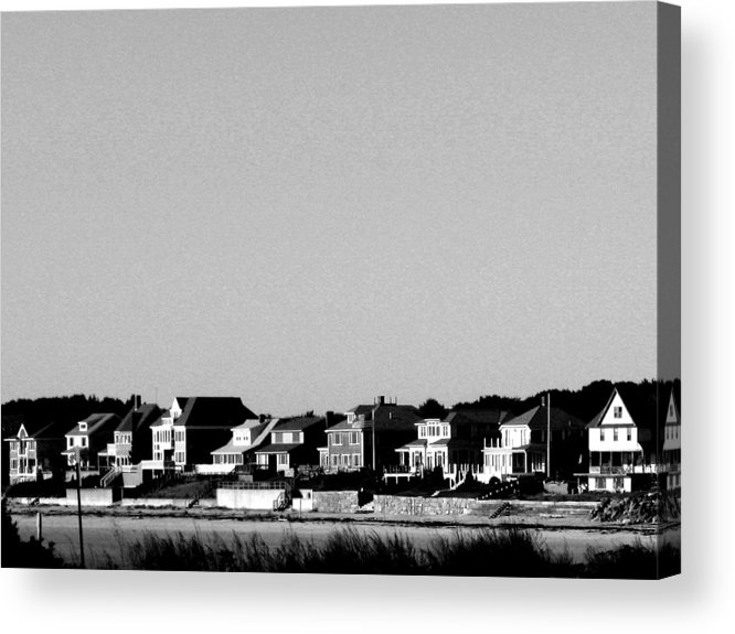 Sea Shore Acrylic Print featuring the digital art New England Sea Shore by Donna Thomas