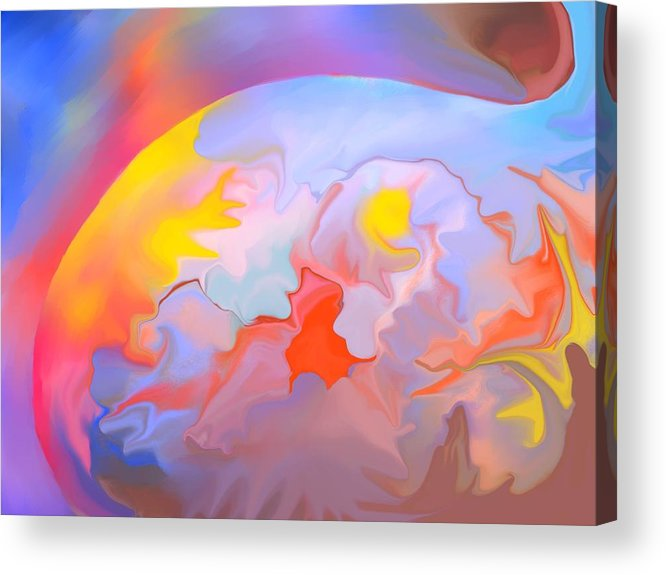 Abstract Acrylic Print featuring the digital art New World by Peter Shor