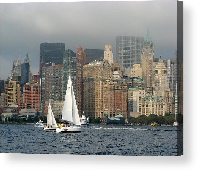 New York Harbor Acrylic Print featuring the photograph New York Harbor by Terese Loeb Kreuzer