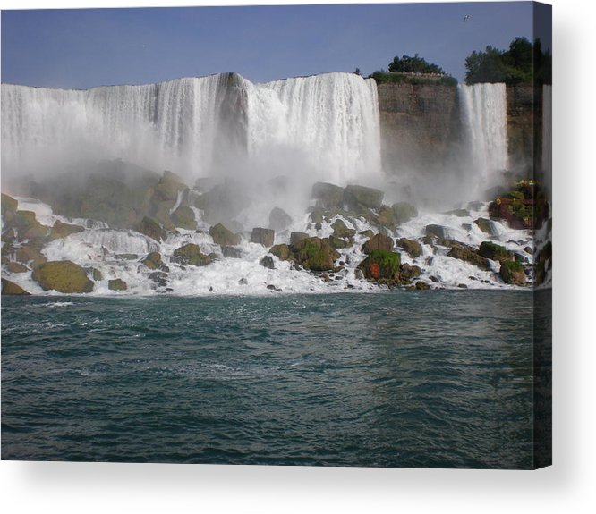 Niagra Falls Acrylic Print featuring the photograph Niagra Falls by Leesa Lee