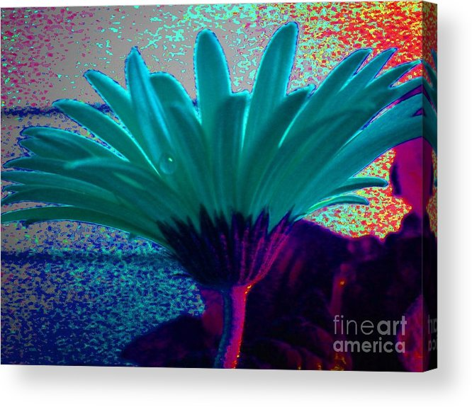 Abstract Flower Acrylic Print featuring the photograph Night Vision by Diana Chason