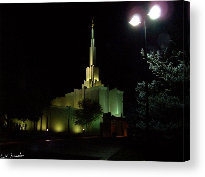 Building Acrylic Print featuring the photograph Nighttime View by Elise Samuelson