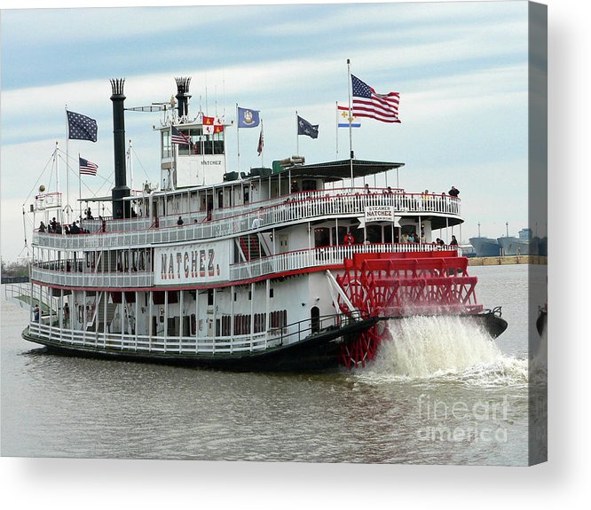 New Orleans Acrylic Print featuring the photograph Nola Natchez Riverboat by Joy Tudor