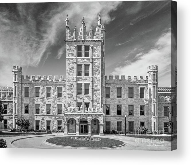 Altgeld Hall Acrylic Print featuring the photograph Northern Illinois University Altgeld Hall by University Icons