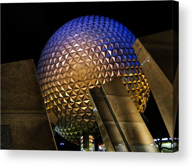 Epcot Acrylic Print featuring the photograph Not A Golf Ball by Joetta West