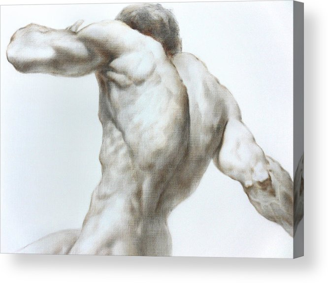Man Acrylic Print featuring the painting Nude1c by Valeriy Mavlo