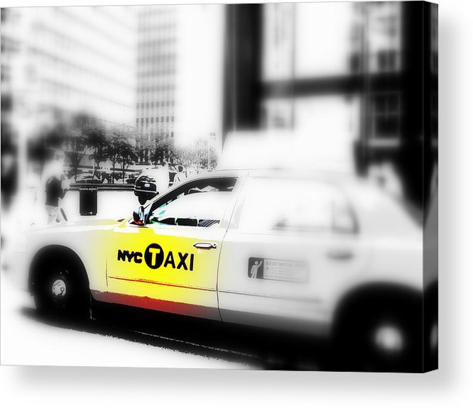 America Acrylic Print featuring the photograph Nyc Cab by Funkpix Photo Hunter