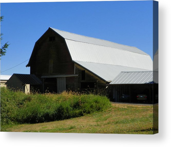Digital Photography Acrylic Print featuring the photograph Old Barn by Laurie Kidd