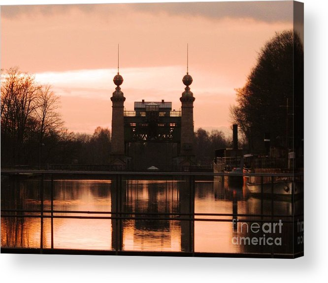 Lift Lock Acrylic Print featuring the photograph Old Lift Lock by Christiane Schulze Art And Photography