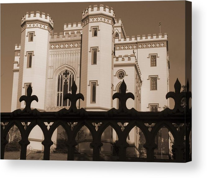 Baton Rouge Acrylic Print featuring the photograph Old State Capital - Baton Rouge by Shawn McElroy