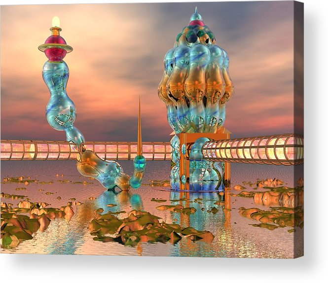 Landscape Acrylic Print featuring the digital art On Vacation by Dave Martsolf