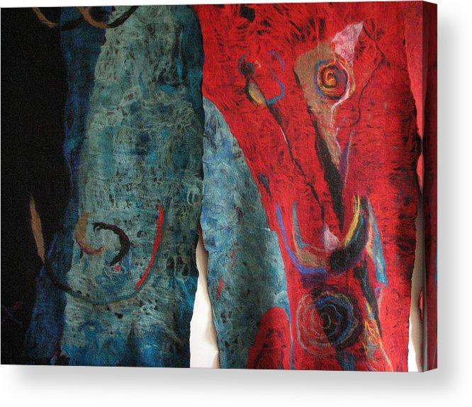 Felt Acrylic Print featuring the tapestry - textile Opening The Skies by Kseniya Nelasova