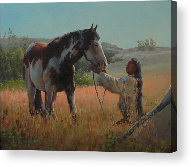 West Acrylic Print featuring the painting Ottumwa Dawn by Jim Clements