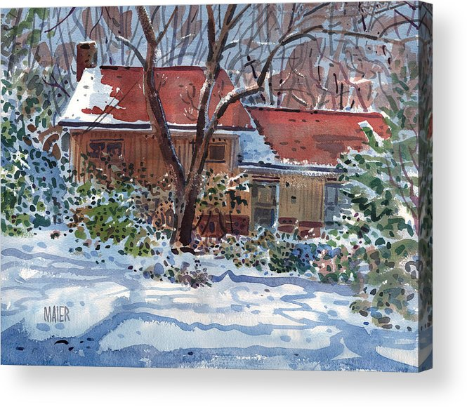 Residence Acrylic Print featuring the painting Our House by Donald Maier