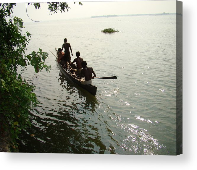 Landscapes Acrylic Print featuring the photograph Out Fishing by Reshmi Shankar