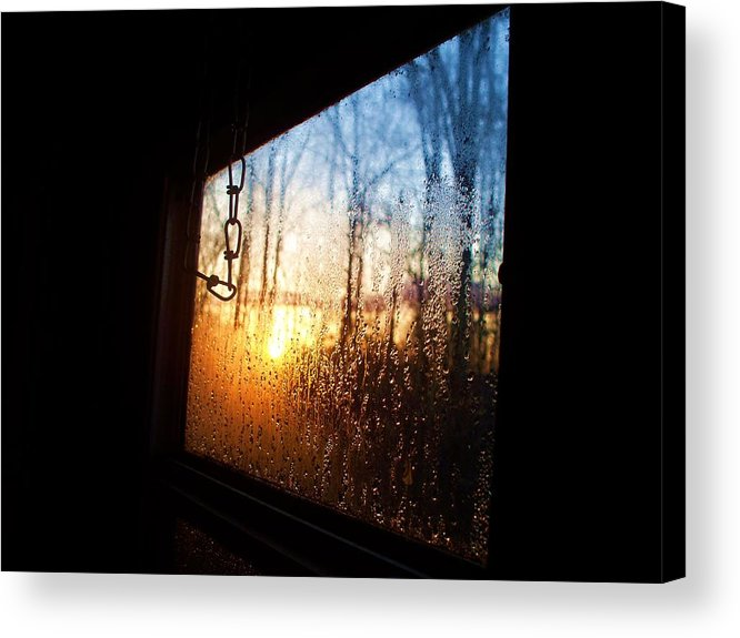 Sunset Acrylic Print featuring the photograph Out The Trailer Window by Beverly Hammond