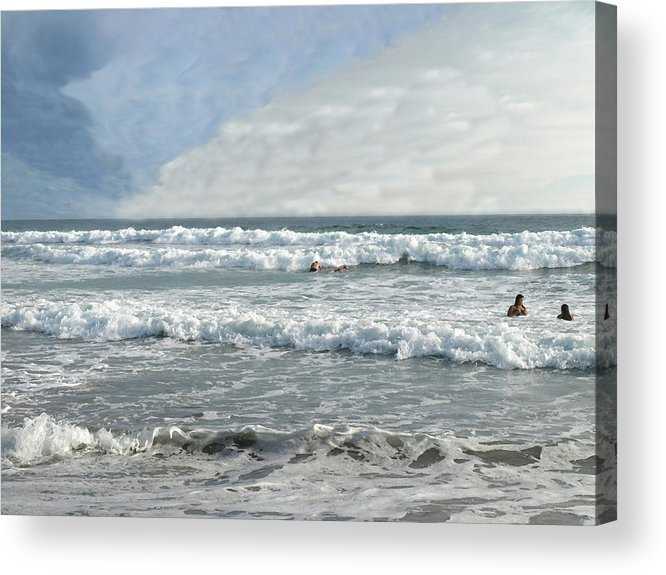 Pacific Acrylic Print featuring the photograph Pacific Beach by Chuck Shafer