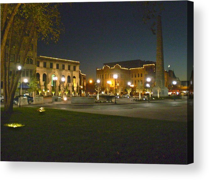 Asheville Acrylic Print featuring the photograph Pack Square In Asheville by Cat Rondeau
