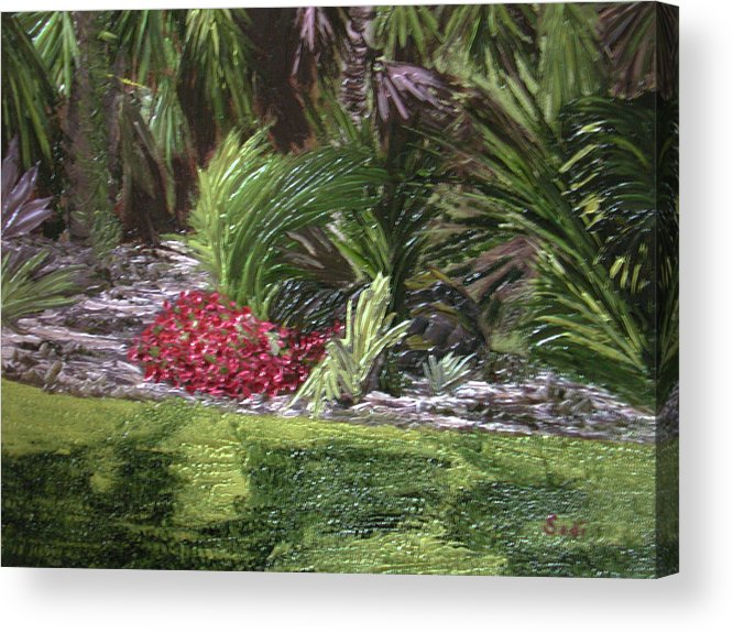 Garden Acrylic Print featuring the painting Paige by Sodi Griffin