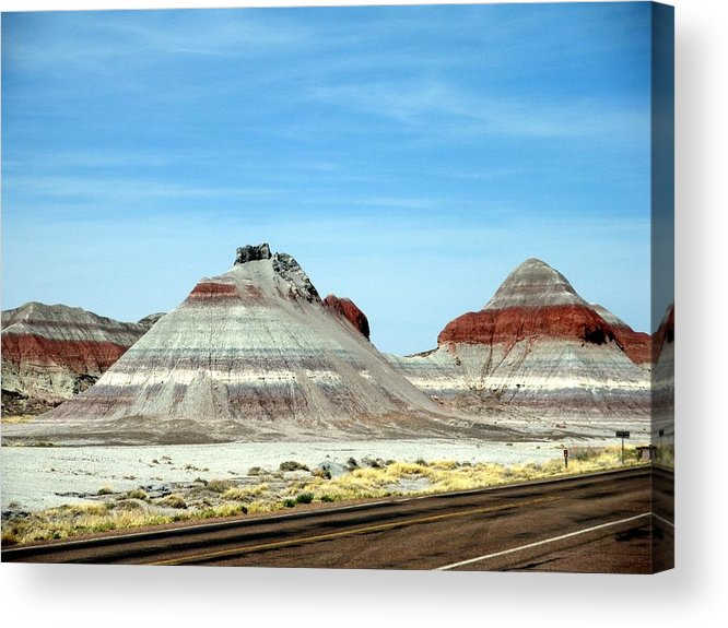 Arizona Acrylic Print featuring the photograph Painted Desert 2 by Jeanette Oberholtzer