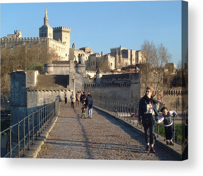 Pope Palace Acrylic Print featuring the photograph Papal Palace Avignon by Charles Ridgway