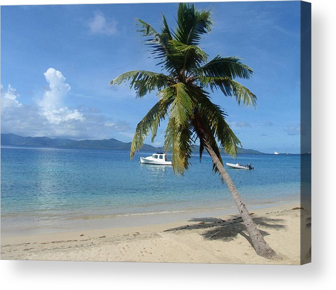 Caribbean Acrylic Print featuring the digital art Paradise by Ginger Howland