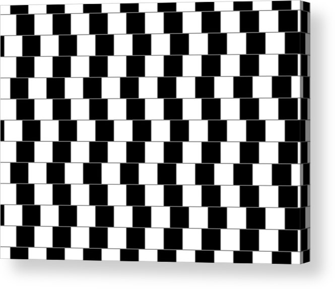 Optical Illusion Acrylic Print featuring the digital art Parallel Lines by Michael Tompsett