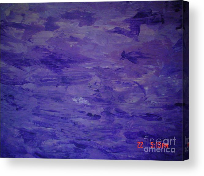 Asbstract Acrylic Print featuring the painting Passion 1 by B Bonner