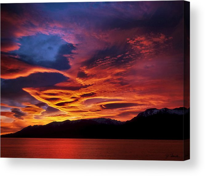 Patagonia Acrylic Print featuring the photograph Patagonian Sunrise by Joe Bonita