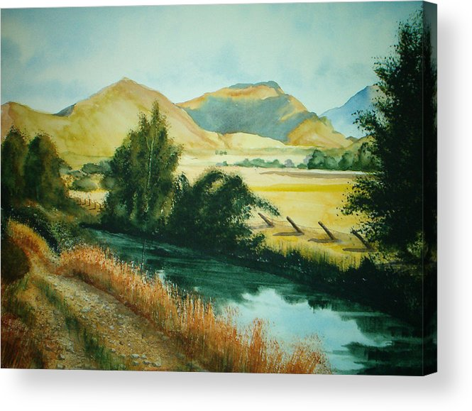 Landscape Acrylic Print featuring the painting Path To Braithwaite by Shirley Braithwaite Hunt