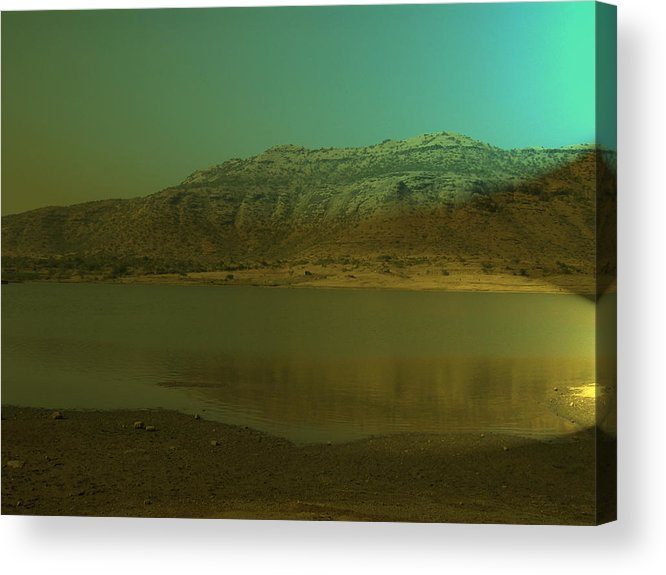 Nature Acrylic Print featuring the painting Peace Of Nature by Archana Dehadrai